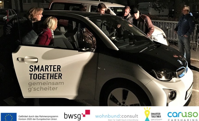 "Kick-off ""e-Carsharing in der Hauffgasse"""